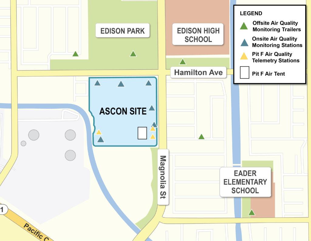 Ascon air monitoring map