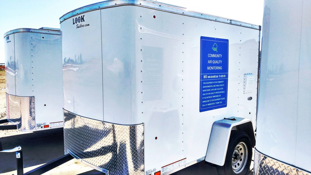 Air quality monitoring trailers