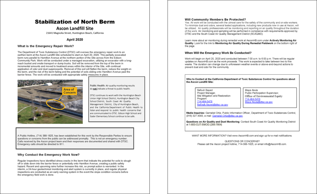 ascon north berm community information