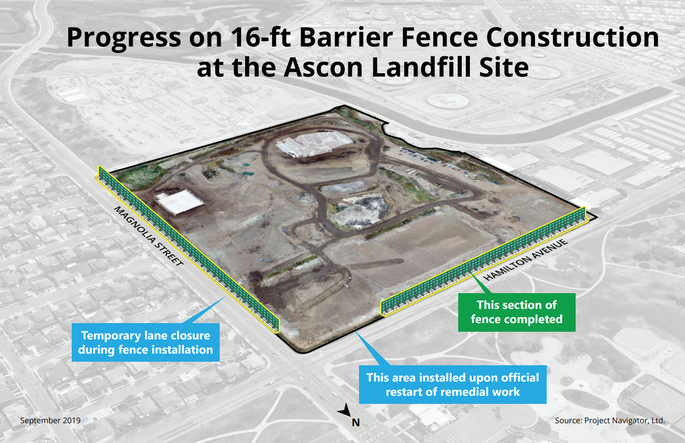 Final Remedy Barrier Fence Graphic, Sep 16, 2019