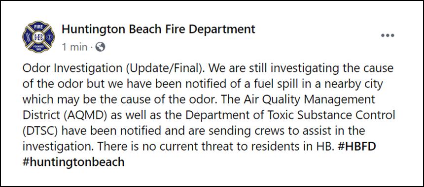 huntington beach fire department alert