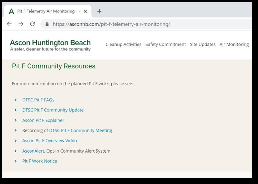 pit f community resources